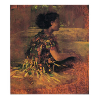 'Girl in Grass Dress' - John LaFarge Print
