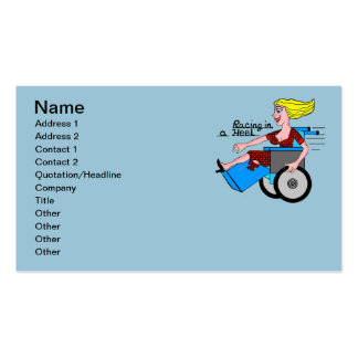 Girl in High Heel Wheelchair Amputee Standard Business Cards