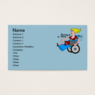 Girl in High Heel Wheelchair Amputee Business Card