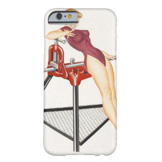 Girl in Leotard Pin Up Art Barely There iPhone 6 Case