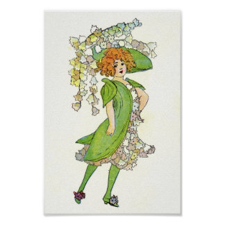 Girl in Lillies Print