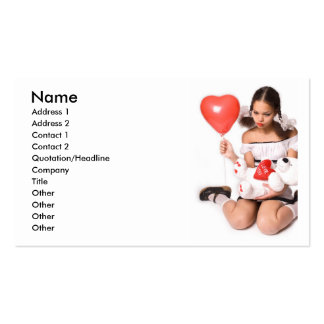 Girl in Love_1 Business Card Templates