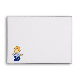 Girl in mommies pearls and shoes envelopes