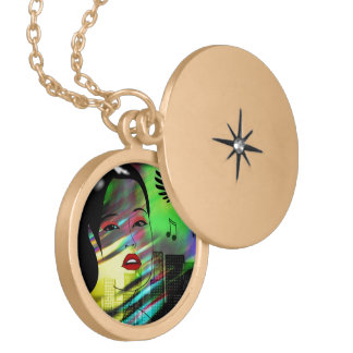 Girl In Music Locket Necklace