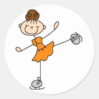 Girl In Orange Ice Skater Sticker