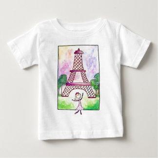 Girl In Paris Eiffel Tower Travel Serena Bowman Baby T-Shirt