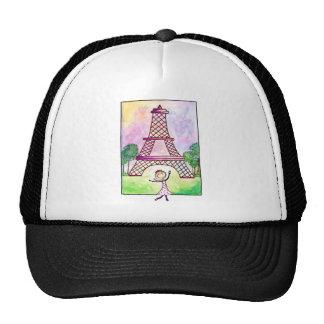 Girl In Paris Eiffel Tower Travel Serena Bowman Trucker Hat
