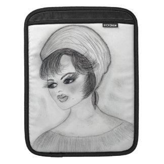 Girl in Pillbox Cap iPad Sleeve