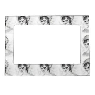 Girl in Pillbox Cap Magnetic Frame