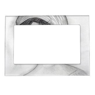 Girl in Pillbox Cap Magnetic Photo Frame