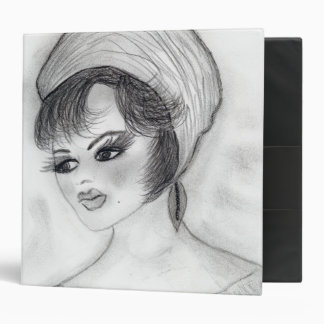 Girl in Pillbox Hat Binder