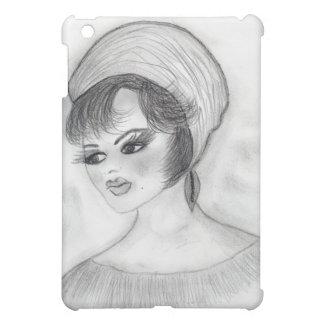 Girl in Pillbox Hat iPad Mini Cases