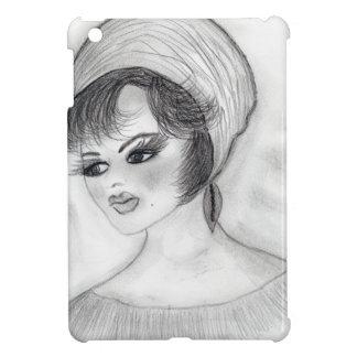 Girl in Pillbox Hat iPad Mini Cover