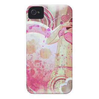 Girl in pink bikini and big heart Case-Mate iPhone 4 case