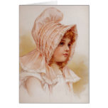 Girl in Pink Bonnet Cards