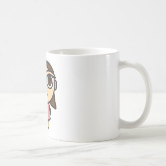 Girl in Pink-Brunette-Brown Eyes Mug