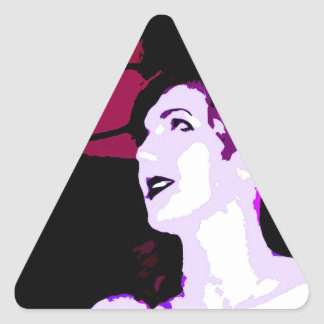 GIRL IN PINK TRIANGLE STICKER