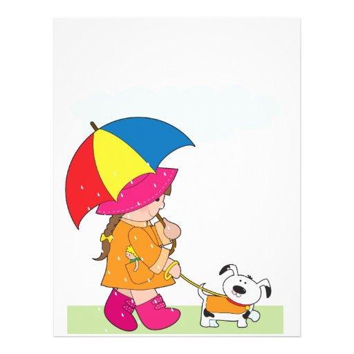 """Girl in Rain 8.5"""" X 11"""" Flyer"""