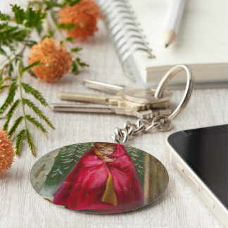 Girl in Red Cape Keychain