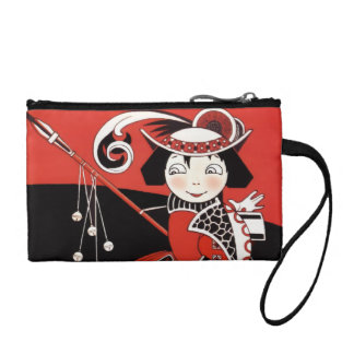 Girl in Red Coin Purse