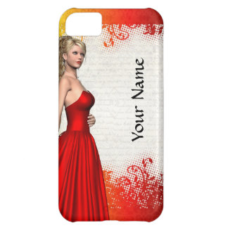 Girl in red dress case for iPhone 5C
