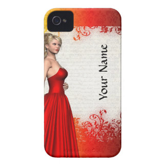 Girl in red dress iPhone 4 case