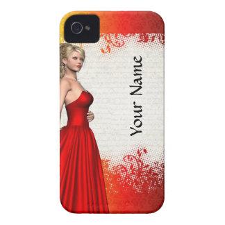 Girl in red dress iPhone 4 Case-Mate case