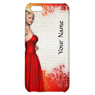 Girl in red dress iPhone 5C cover