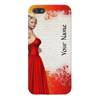 Girl in red dress iPhone SE/5/5s case