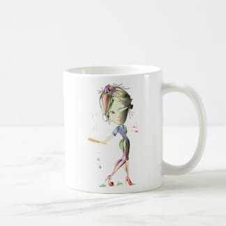 Girl in Red Stiletto Shoes Plays Baseball! Coffee Mug