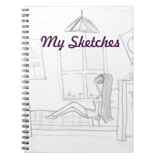 Girl In Room Sketch Book
