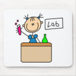 Girl In School Science Lab Mousepad