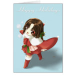 Girl in Show Holiday Greeting Greeting Cards