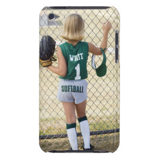 Girl in softball uniform barely there iPod cover