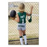 Girl in softball uniform cards