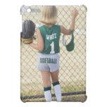 Girl in softball uniform iPad mini cases