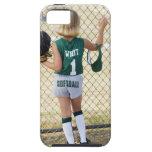 Girl in softball uniform iPhone 5 case