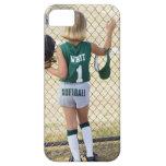 Girl in softball uniform iPhone 5 cases