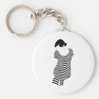 Girl In Stripes Keychain
