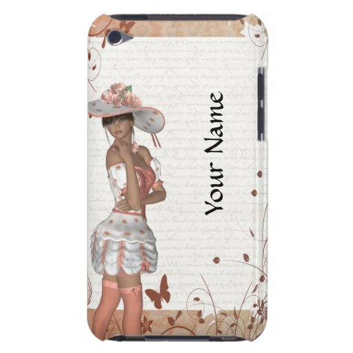 Girl in summer hat barely there iPod covers