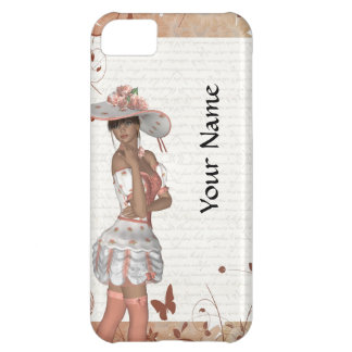 Girl in summer hat case for iPhone 5C
