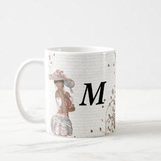 Girl in summer hat coffee mug