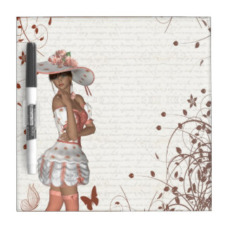 Girl in summer hat Dry-Erase board