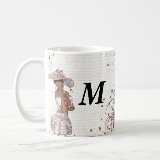 Girl in summer hat mugs