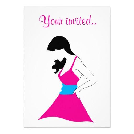 Girl In Sundress Custom Invite