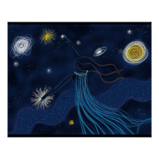 Girl In the Cosmos Poster