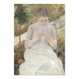 Girl in the Garden by Mary Cassatt 5x7 Paper Invitation Card
