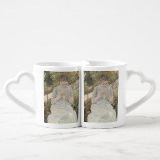 Girl in the Garden by Mary Cassatt Lovers Mug Set