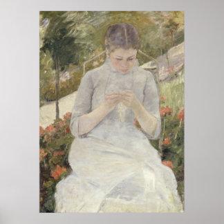 Girl in the Garden by Mary Cassatt Print