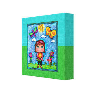 Girl In The Garden Gallery Wrapped Canvas Print